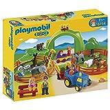 PLAYMOBIL 1.2.3 - 6754 Gran zoológico (Playmobil 1.2.3 4008789067548) 'Los niños pueden aprender todo sobre diferentes tipos de animales con este gran zoológico de PLAYMOBIL!…
