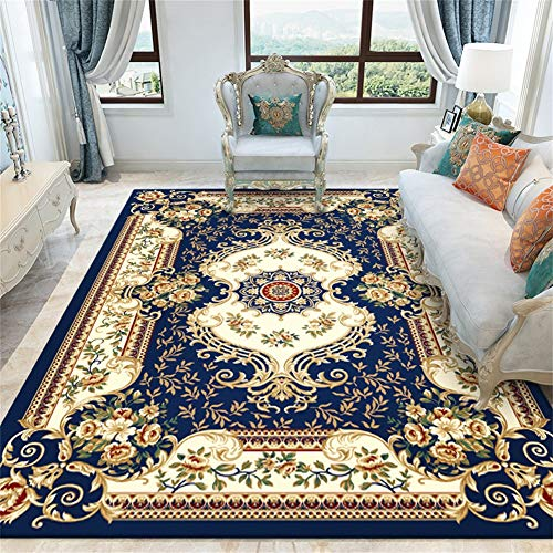WANY Estilo Europeo Salón Alfombra,Vintage Floral Oriental Alfombra,Moderno Mal Grueso Suave Felpa Alfombra,140 X 200 Cm-A 140 * 200cm