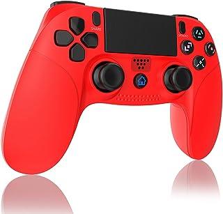 【2020年の最新版】PS4 コントローラー 無線 Bluetooth接続 Aerku HD振動 ゲームパット搭載 人間工学を極めた設計で タッチパッド イヤホンジャックスピーカー DualShock 4 PlayStation 4 / PS3...