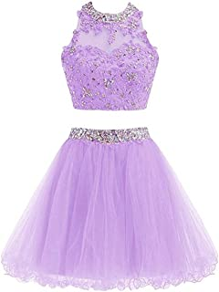 Juniors Homecoming Dresses Short Beading Satin Prom Dresses Open Back 107