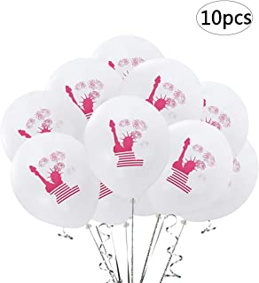 BinaryABC 4th of July Balloons Patriotic Latex Balloons,4th of July Day Independence Day National Day Party Decoration,12 Inches,10Pcs (Statue of Liberty)