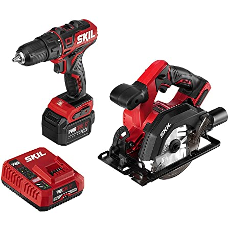 Skil Pwrcore 20 Brushless 20v 6 1 2 Inch Circular Saw Includes 4 0ah Lithium Battery And Pwrjump Charger Cr541302 Amazon Com