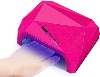 Secador de uñas Lámpara LED Ajuste Inteligente del Tiempo de detección de Infrarrojos Diseño de Diamante Placa Inferior Desmontable Calefacción Uniforme Fácil de Limpiar Adecuado para salón