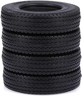 Cigooxm 4pcs Trailer Car Rubber Tires for 1/14 Tamiya Tractor Truck RC Climber Trailer