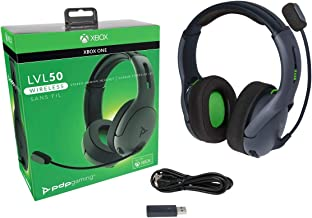 PDP - Auricular Stereo Gaming LVL50 Wireless, Gris (Xbox One)