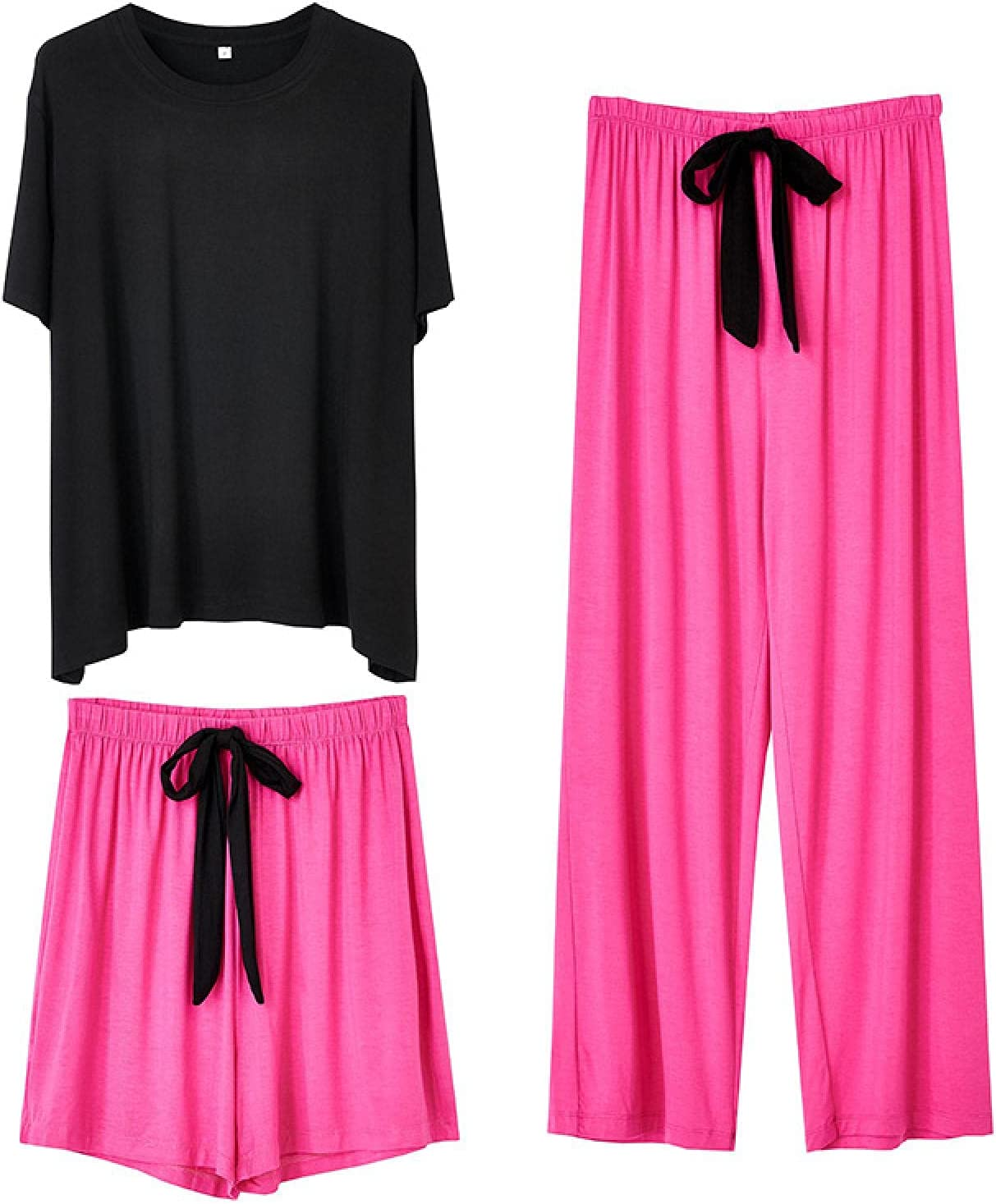 STJDM Nightgown,Modal Pajamas Set Women Short Homewear Summer Co