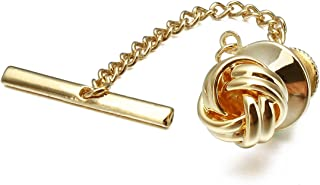 HAWSON Sailor Knot Tie Tack for Men Metal Tie Pin Silver and Gold Color