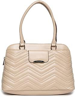 Jones New York Womens Yasmin Faux Leather Logo Satchel Handbag