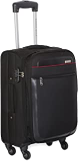 c41c8b620ba Nasher Miles Toronto Soft-Sided Black Cabin Bag 55 cm|20 inch Trolley Bag