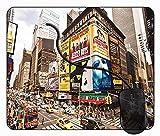Juzijiang Alfombrilla de Ratón Nueva York Agosto, Alfombrilla Gaming, Base de Goma Antideslizante para Gamers, PC Portátil - 24x20cm