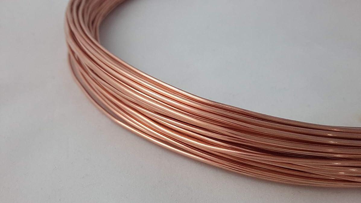 19 Gauge, 99.9% Pure Copper Wire, Round, Half Hard, CDA #110-25FT from Craft Wire
