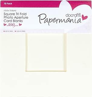 Square Aperture Cards/Envelopes Tri Fold Window (10pk 300gsm) - Cream