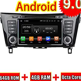 TOPNAVI 9 Pouces Quad Core Android 7.1 Tableau de Voiture pour Nissan Qashqai 2007 2008 2009 2010 2011 2012 Radio St/ér/éo GPS Navigation WiFi 3G RDS Lien Miroir FM AM BT 1 Go de RAM 16 Go ROM