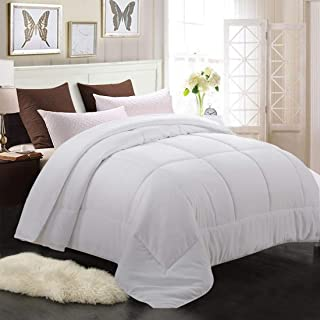 MEROUS King Comforter - Soft Quilted Down Alternative Duvet Insert with Corner Tabs,Summer Fluffy Reversible Hotel Collection Comforter - White,90x102 inch