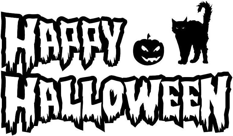 Halloween Decal.Halloween Sticker,Fall Decal,Cat Decal,Happy Halloween Decal,Cat Decals
