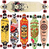 [Maronad.GCP] LONGBOARD DROP THROUGH RACE ABEC-11 SKATEBOARD 41 INCH STREETSURFER SKULL CM (Type:...