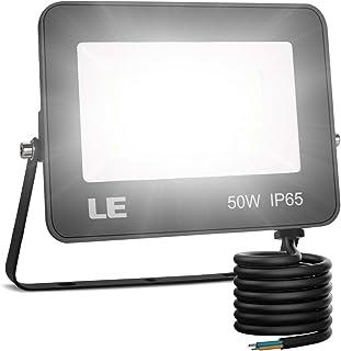 comprar comparacion LE Foco LED 50W, 5000 lúmenes, IP65 resistente al agua, Foco LED Exterior, Blanco Frío 5000 K, Ángulo de haz 120°, Foco Pr...