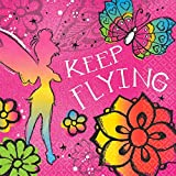 amscan Disney Tinker Bell - Keep Flying Luncheon Napkins Birthday Party Tableware Supply (16 Pack), Multi Color, 6.5' x 6.5'.