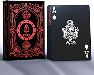Acelion Playing Cards Standard Black Cool Gold Foil Poker Cards, Waterproof Deck of Cards for Magic or Party