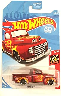 Hot Wheels 2018 50th Anniversary HW Flames '49 Ford F1 85/365, Maroon