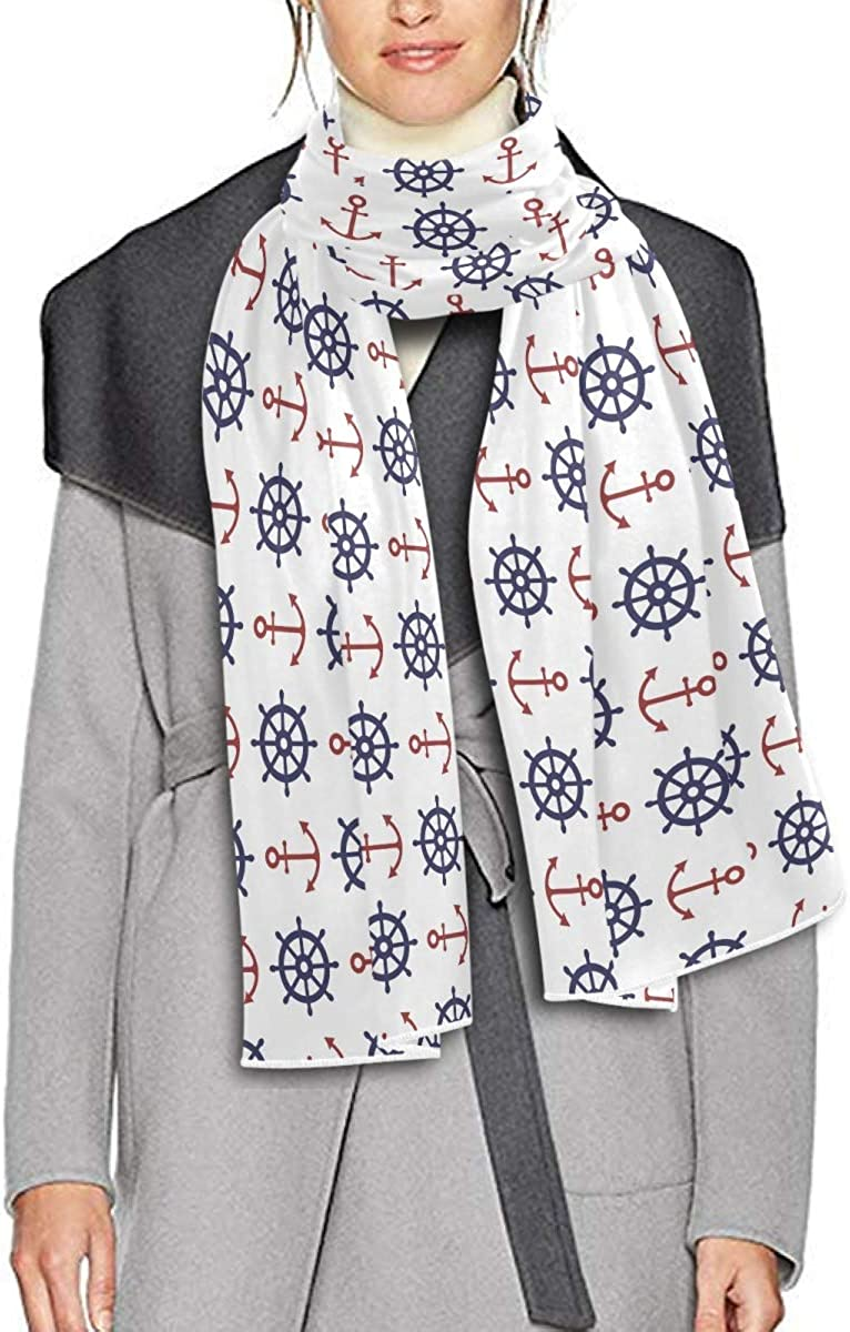 Scarf for Women and Men Nautical Shawls Blanket Scarf wraps Soft thick Winter Oversized Scarves Lightweight