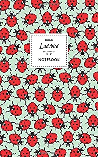 Ladybird Notebook - Ruled Pages - 5x8 - Premium: (Spring Green Edition) Fun notebook 96 ruled/lined pages (5x8 inches / 12...