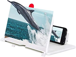 """ZHANGDA 12"""" Screen Magnifier for Cell Phone, HD Mobile Phone Magnifier 3D Projector Screen for Movie Video Gaming, Foldabl..."""