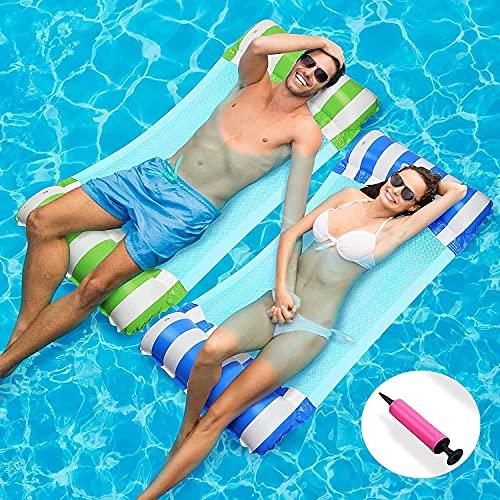 2 Pack Inflatable Pool Floats Hammock, Water Hammock Lounges, Multi-Purpose...