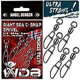 Angel-Berger Wild Devil Baits Giant Sea C- Snap Swivel Meereswirbel Norwegen Kugellager (5/0 80kg)