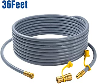 """GASPRO 36 feet Natural Gas Hose Extension with 3/8 Male Flare Quick Connect/Disconnect for BBQ Gas Grill- 50,000 BTU Fits Low Pressure Appliance with 3/8"""" Female Flare Fitting-CSA Certified"""