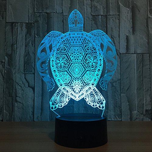 Tier Meeresschildkröte Remtoe Lautsprecher 3D LED Nachtlicht USB Tischlampe Kinder Geburtstag Geschenk Nachtbett Dekoration