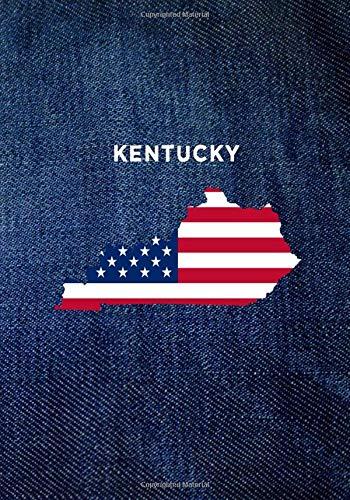 KENTUCKY: 7x10 Sketch & Write Notebook : Denim USA Flag KY (USA 50 States Denim Jeans)