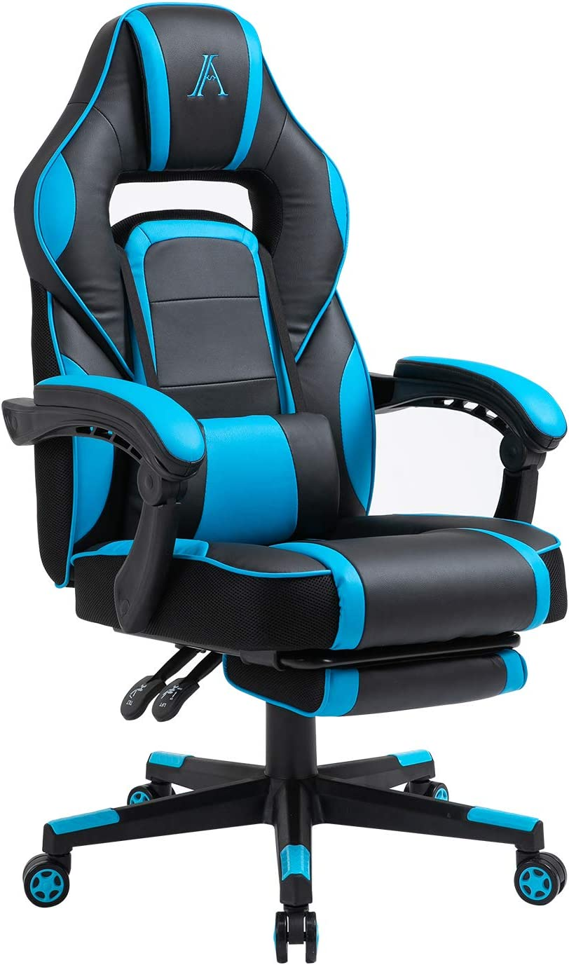 AJS PC Gaming excellence Chair Ergonomic Game High Leather Video Back San Francisco Mall