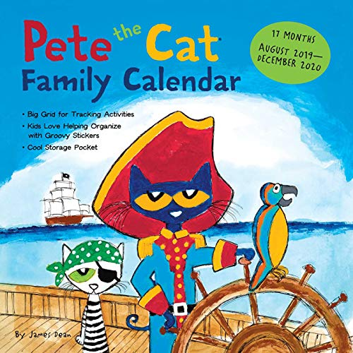 Pete the Cat 17-Month 2019-2020 Family Wall Calendar
