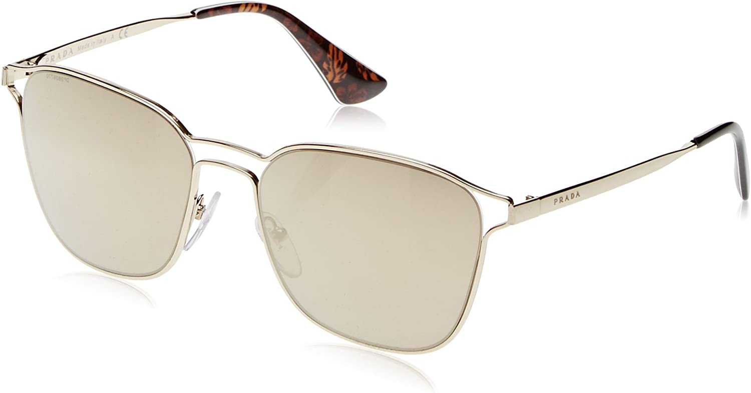Prada Women's Double Bridge Mirrored Sunglasses