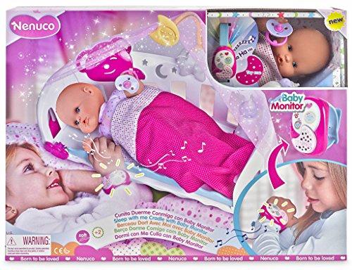 Nenuco 700014485 Cunita Duerme Conmigo Con Baby Monitor, Multicolor