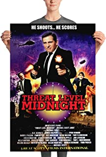 He Shoots He Scores Threat Level Midnight Great Scott Film International Michael Scott The Office Poster - Inspired by US TV Series Dunder Mifflin Inc Paper Company - Great Gift for Christmas