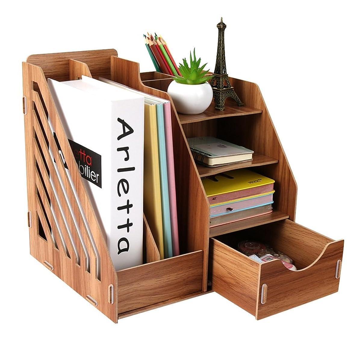 機密クラウンバックQL 本棚 書棚 - 事務用品引き出し付き収納ボックス、学生用机棚、フォルダー収納、経済的な家具 収納棚 (Color : A)