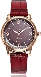 Womens Quartz Watches On Sale,POTO Unique Analog Fashion Clearance Ladies Watch Newv Strap Female Watches Casual Wristwatches for Women,Alloy Stainless Steel Round Leather Watch