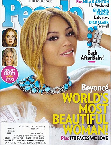 * 50 MOST BEAUTIFUL PEOPLE * Beyonce l Ashton Kutcher & Mila Kunis l Adele l Jennifer Aniston - May 7, 2012 People Magazine Special Double Issue