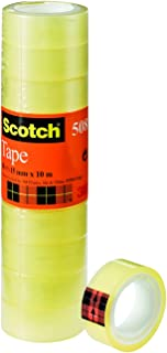 Scotch 5081510 plakband transparant PP, 15 mm x 10 m, 10 rollen