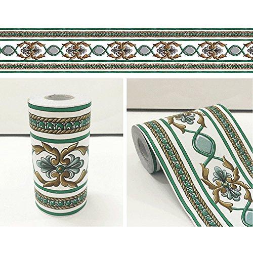 lovefaye Floral Vines Tapete Bordüre Rolle selbstklebend Wandsticker Decor Art für Küche Bad Spiegel Rahmen