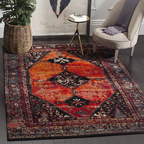 Safavieh Vintage Hamadan Collection VTH217B Oriental Antiqued Orange and Multi Area Rug (4' x 6')