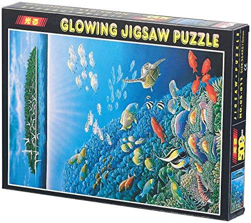 infactory Puzzle Phosphorescent Monde sous-Marin 500 pièces