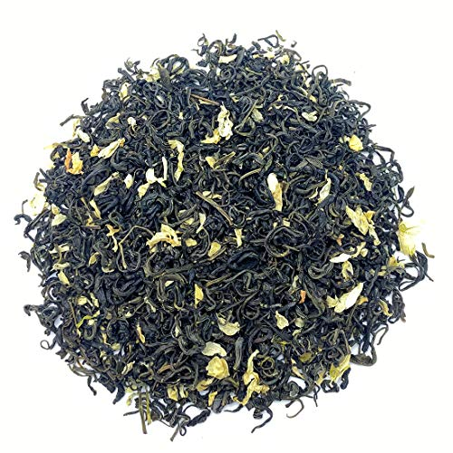 USDA Organic Jasmine Green Tea Loose Leaf - Best Tradition Chinese Jasmine Green Tea Leaves Caffeinated Health Benefits Scented Blend with Jasmine Flowers Blossom Good for You 4.23oz/120g (4.23)