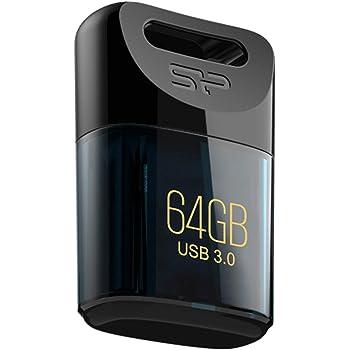 シリコンパワー USBメモリ 64GB USB3.1 / USB3.0 超小型 防水 防塵 耐衝撃 Mac対応 永久保証 Jewel J06 SP064GBUF3J06V1D