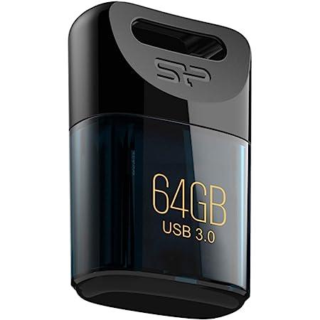 シリコンパワー USBメモリ 64GB USB3.2 (USB3.1/USB3.0/USB2.0互換) 小型 防水 防塵 耐衝撃 Mac対応 Jewel J06 SP064GBUF3J06V1D