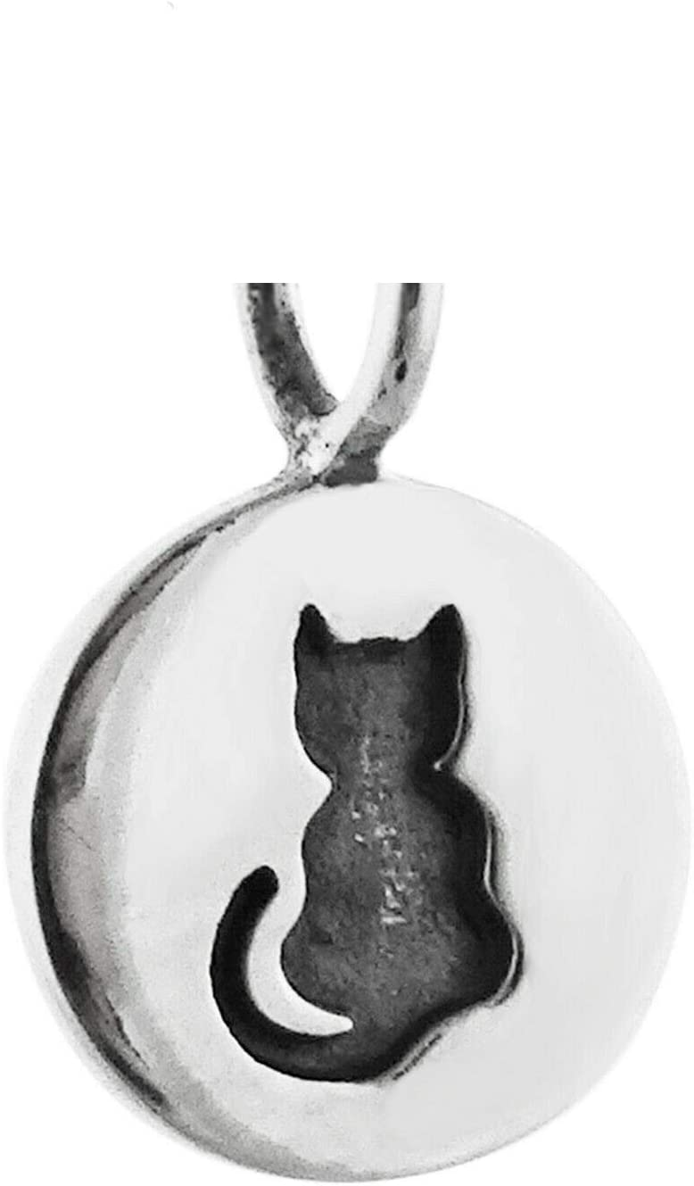 Pendant 2021 spring and summer new Charm - Tiny Etched Sterling Cat Silver 925 Tag Super special price