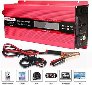 GBHJJ 1500 W/2000 W växelriktare, likström 12 V/24 V till växelström 110 V/220 V bilkonverterare med LCD-indikering, modif...