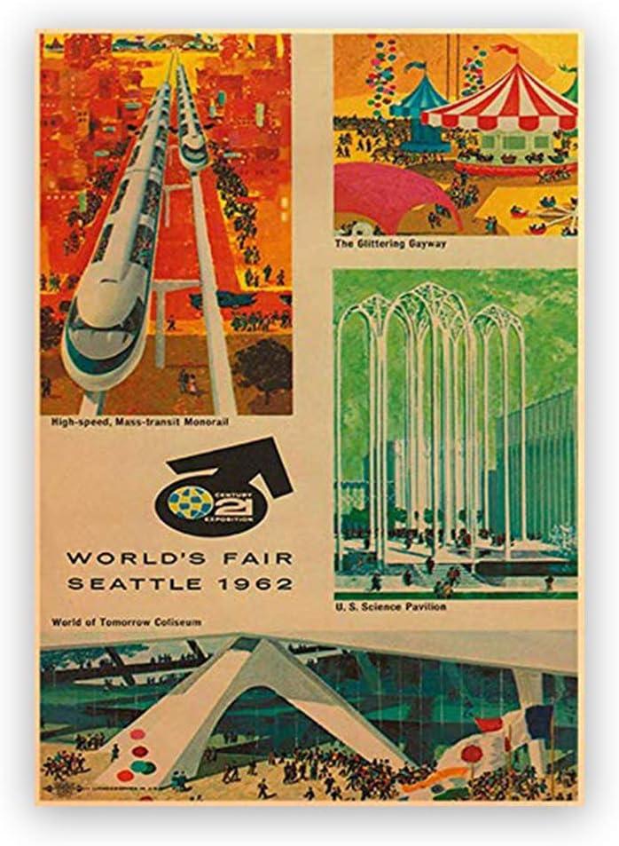 world s fair seattle 1962 vintage poster home decor